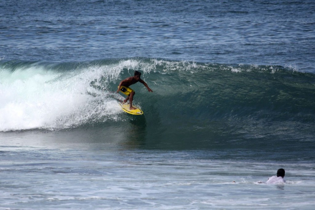 Local Canggu surfer